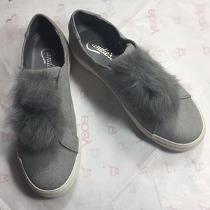 Candie's faux suede Pom sneakers 8.5